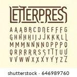 letterpress printing style... | Shutterstock .eps vector #646989760