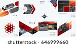 business vector design elements ... | Shutterstock .eps vector #646999660