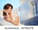 Beautiful Bride In Her Wedding...
