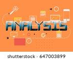 thin line flat design banner... | Shutterstock .eps vector #647003899