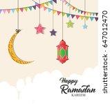 ramadan kareem. ramadan design... | Shutterstock .eps vector #647012470