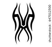 tribal tattoo art designs.... | Shutterstock .eps vector #647012500