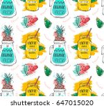hand drawn vector abstract... | Shutterstock .eps vector #647015020