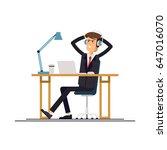 cool vector flat character... | Shutterstock .eps vector #647016070
