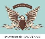 vintage american eagle mascot...   Shutterstock .eps vector #647017738