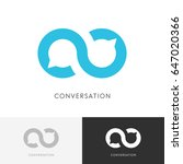 infinity conversation logo  ... | Shutterstock .eps vector #647020366