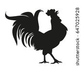 black cock on a white background | Shutterstock .eps vector #647025928