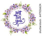 wildflower dogwood flower frame ... | Shutterstock . vector #647026624