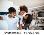 shot of happy african american... | Shutterstock . vector #647026708