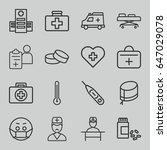 doctor icons set. set of 16... | Shutterstock .eps vector #647029078