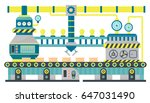 factory conveyor industrial... | Shutterstock .eps vector #647031490