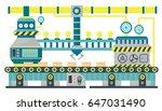 factory conveyor industrial... | Shutterstock .eps vector #647031490