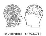 outline stroke machinery head... | Shutterstock .eps vector #647031754