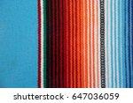 mexican serape blanket... | Shutterstock . vector #647036059