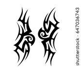 tattoo tribal vector design.... | Shutterstock .eps vector #647036743