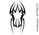 tattoo tribal vector design.... | Shutterstock .eps vector #647036773