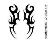 tattoo tribal vector design.... | Shutterstock .eps vector #647036779