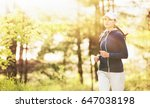 sport fitness woman running in... | Shutterstock . vector #647038198