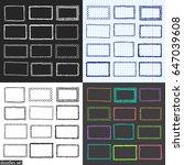 doodles set. scribble... | Shutterstock .eps vector #647039608