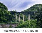 mountain landscape  georgia.... | Shutterstock . vector #647040748