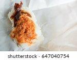 sweet shredded pork on top... | Shutterstock . vector #647040754