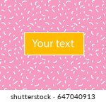 vector simple background with... | Shutterstock .eps vector #647040913