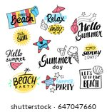 summer labels  logos  and... | Shutterstock .eps vector #647047660