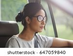 young woman wearing eyeglasses... | Shutterstock . vector #647059840