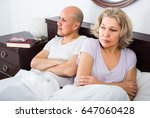 frustrated senior mature couple