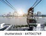 view from cableway over yangtze ... | Shutterstock . vector #647061769