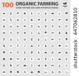 organic farming icons for web... | Shutterstock .eps vector #647062810