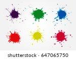 colorful paint splatters.paint...   Shutterstock .eps vector #647065750