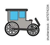 carriage wagon icon image  | Shutterstock .eps vector #647074234