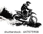 motocross rider | Shutterstock .eps vector #647075908