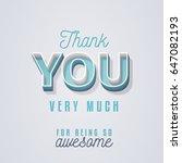 lovely thank you card design... | Shutterstock .eps vector #647082193