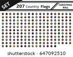 set 207 country flag christmas... | Shutterstock .eps vector #647092510