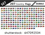 set 207 country flag bubble | Shutterstock .eps vector #647092534