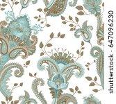 ethnic seamless pattern. indian ... | Shutterstock . vector #647096230