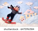 happy smiling infant baby boy... | Shutterstock . vector #647096584