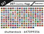 set 207 country flag wind | Shutterstock .eps vector #647099356