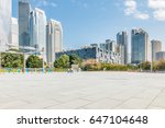 empty road and modern business...   Shutterstock . vector #647104648