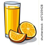 illustration of orange juice... | Shutterstock .eps vector #647105428