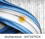 argentina  flag of silk with... | Shutterstock . vector #647107414