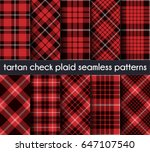 set tartan check plaid seamless ... | Shutterstock .eps vector #647107540