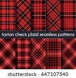 set tartan check plaid seamless ...   Shutterstock .eps vector #647107540