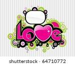 abstract romantic love... | Shutterstock .eps vector #64710772