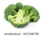 fresh raw broccoli. pieces... | Shutterstock . vector #647108758