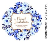 romantic invitation. wedding ... | Shutterstock .eps vector #647112544