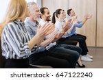happy joyful people applauding | Shutterstock . vector #647122240