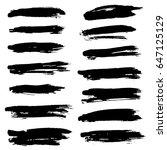 ink vector brush strokes set....   Shutterstock .eps vector #647125129